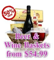 Wine and Beer Gift Baskets