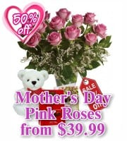 Mothers Day Pink Roses
