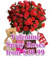 Valentine Spray Roses