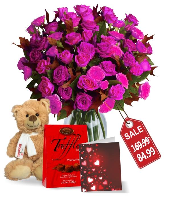 100 fleurs de rose Valentines Spray Rose Combo II