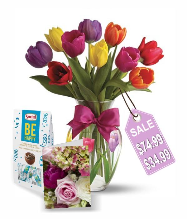 Combo de 10 tulipes