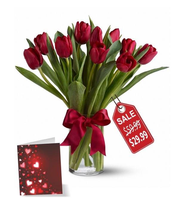 10 Valentine Tulips