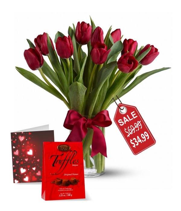 10 Tulipes Rouges, Truffes et Cartes