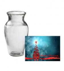 Vase & Christmas Card