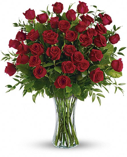 Three Dozen Long Stem Red Roses