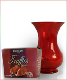 Red Vase and Truffles