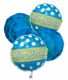 """It's a Boy"" Balloon Bouquet (4)"