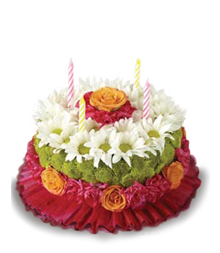 Astounding Blooming Wishes Flower Cake Buy Online At Bloomex Ca Funny Birthday Cards Online Aboleapandamsfinfo