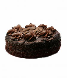 Gâteau fondant de chocolat de luxe