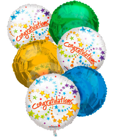 Congratulations Balloon Bouquet (6)