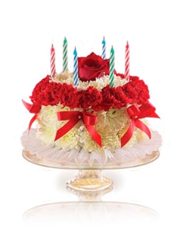 Fragrant Wishes Flower Cake