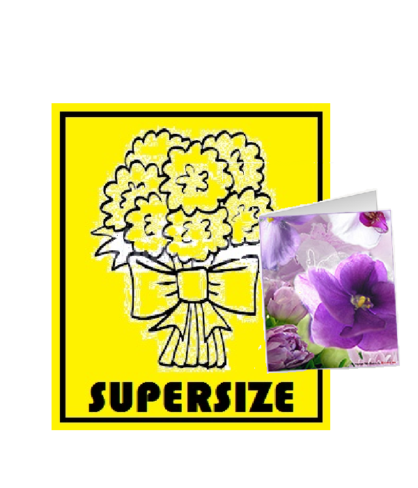 Free SUPERSIZE & Card