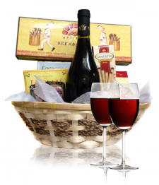 Red Wine & Cheese Basket