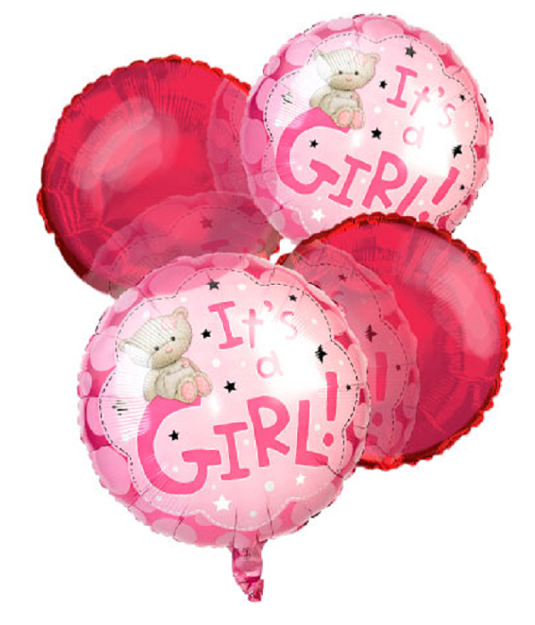 """It's a Girl"" Balloon Bouquet (4)"