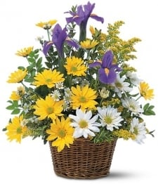 Smiling Floral Basket