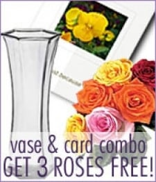 Vase & Card Combo