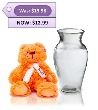 Vase & Teddy