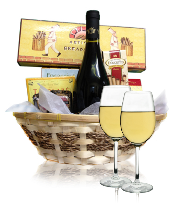 White Wine & Cheese Basket