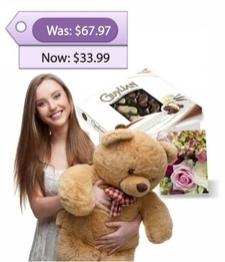Large Teddy, Chocolates & Card