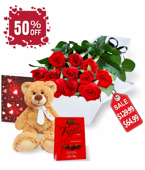 Dozen Gift Boxed Rose Combo Special