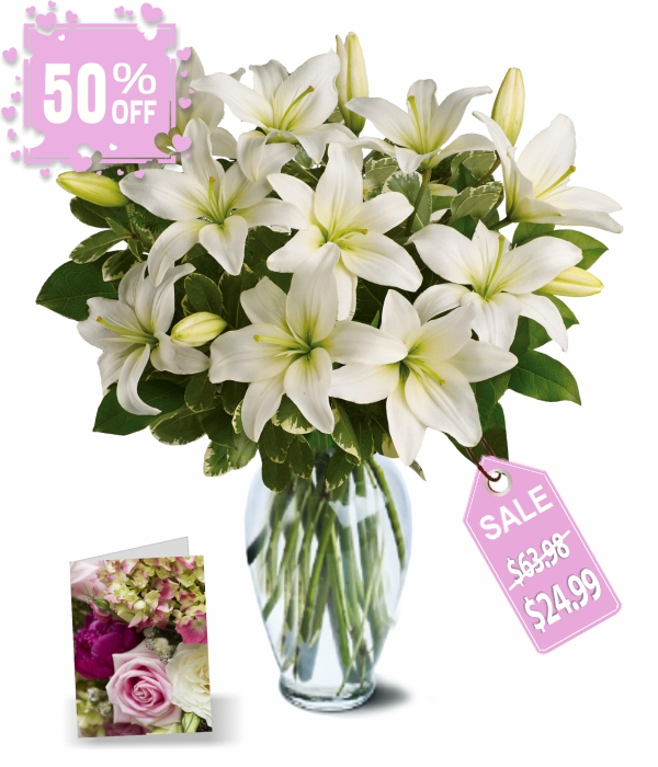20 Blooms of Easter Lilies I