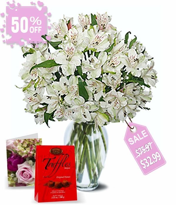 50 Blooms of Easter Alstroemeria II