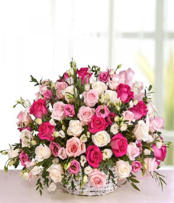 Panier à fleurs personnalisé FloraQueen