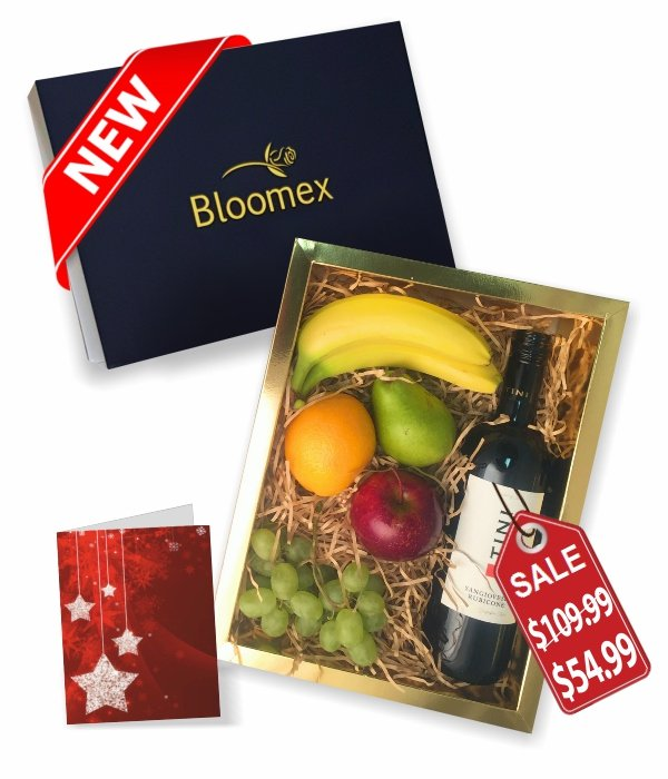 Fruit & Red Wine Gift Box