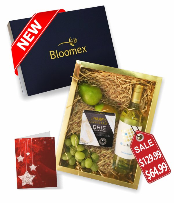 Fruit, Cheese & White Wine Gift Box