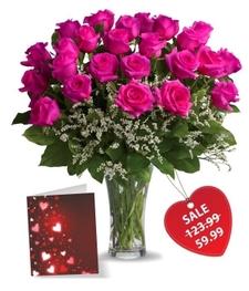 Two Dozen Hot Lady Roses