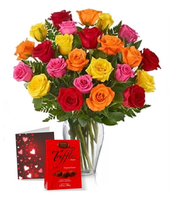 Two Dozen Assorted Rose Combo I