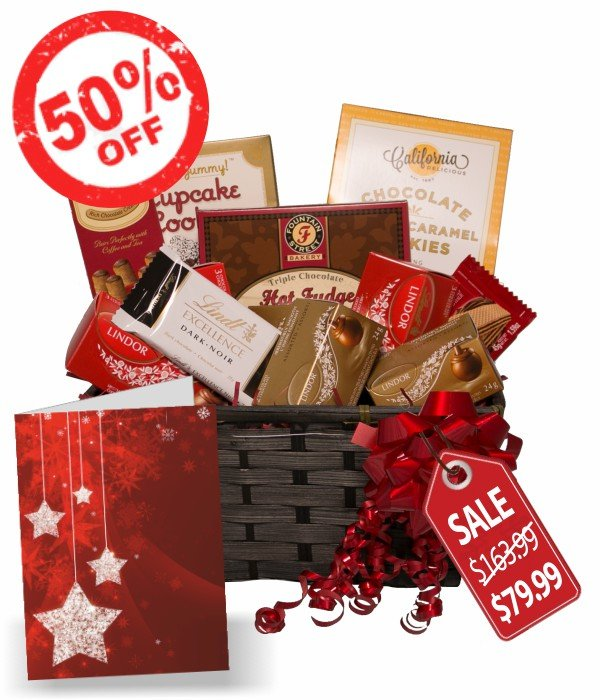 Lindt Gift Baskets for Christmas | Order and send Lindt Gift Baskets Online