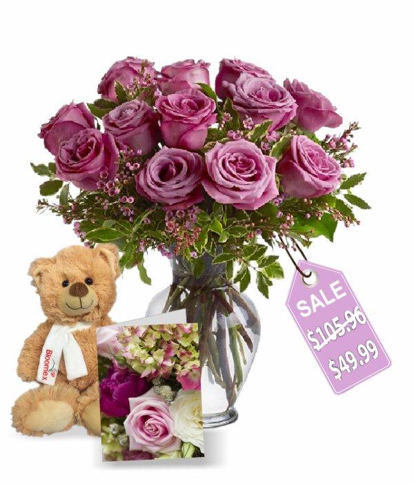 Une douzaine de roses de lavande III