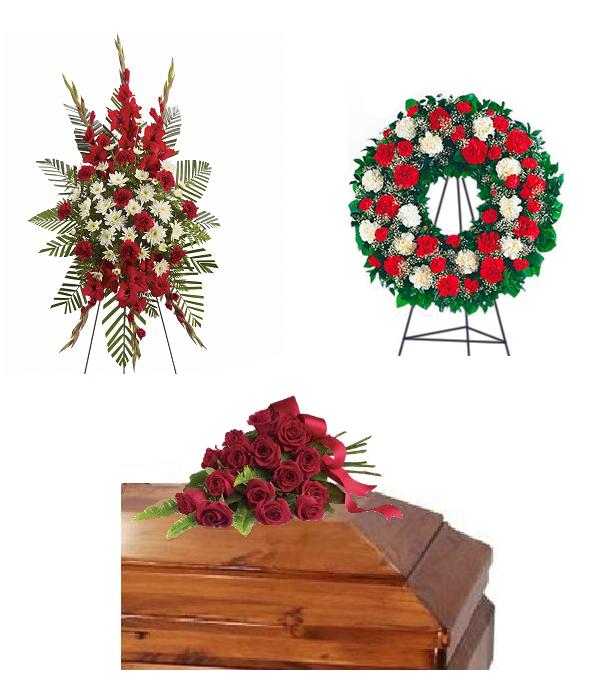 'Pur dévouement' paquet de fleurs funérailles