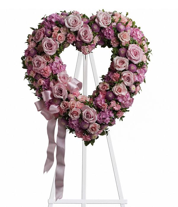 Coeur de jardin rose