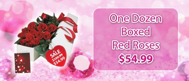 1/2$ Boxed Red Rose Special