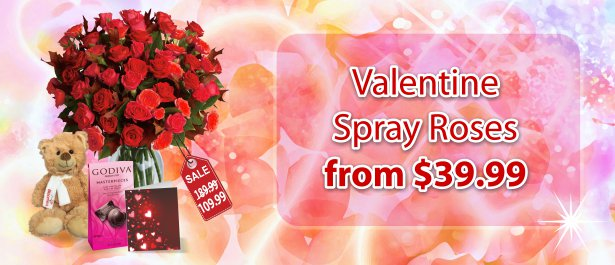 Spray Rose Specials from $39.99