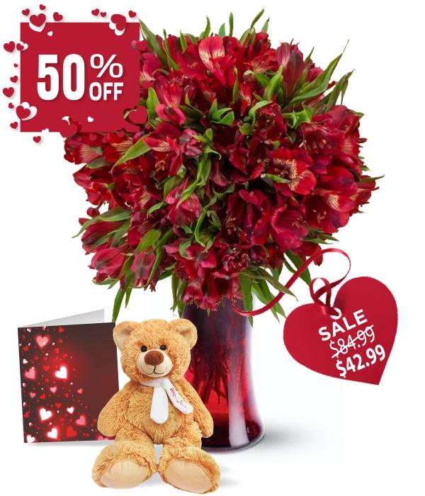 50 Blooms of Valentine Alstroemeria II