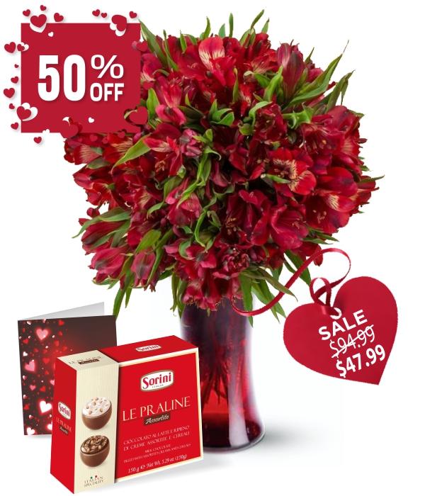 50 Blooms of Valentine Alstroemeria III