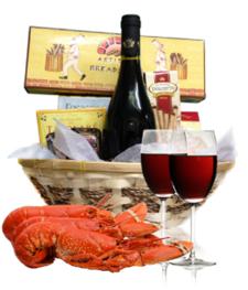 Wine & Lobster Basket