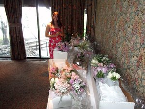 Amanda's wedding - flowers delivered