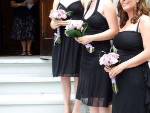 Amanda's wedding - the bridesmaids