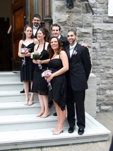 Amanda's wedding - bridesmaids and groomsmen