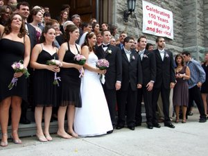 Amanda's wedding - the wedding party