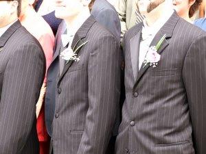 Amanda's wedding - groomsmen and boutonnieres