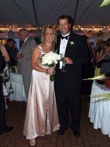 Rhonda's wedding - the happy couple